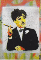 CPM  CHARLOT CHARLIE CHAPLIN GRAFFITI ART POPULAIRE BERLIN MUHLEN STRASSE 1991 - Artistes