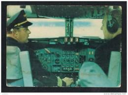 Lufthansa Cockpit Old Airlines Issue Postcard ( 2 Scans ) - 1946-....: Moderne