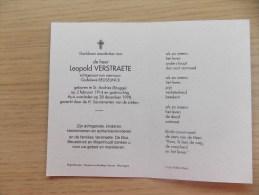 Doodsprentje Leopold Verstraete Brugge 2/2/1914 - 28/12/1998 ( Godelieve Beuselinck ) - Religion & Esotericism