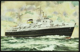 """Zeeland Shipping Co  """"M.S. Prinses Beatrix"""",  1939 - 1968, Posted 1958. - Dampfer"""