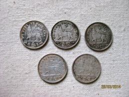 Lot De 5 Gersh 1895 EE - Ethiopie