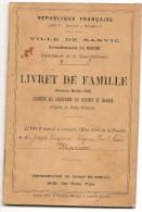 SANVIC  LE  HAVRE LIVRET DE FAMILLE DU DOCTEUR MARION 10 RUE DAHLIA  DU 21 JANVIER 1903 - Documenti Storici
