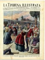 1913 Italian Mag Romanian Soldiers Left For The Front Romania Bucarest  Bucuresti +  Casteltermini Agrigento - Ante 1900