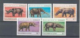 CONGO 1994 - ELEFANTES - ELEPHANTS - YVERT 990A-990E - Elefantes