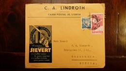 LETTRE (x Scans)  LSC  PORTUGAL   LINDROTH  C.A  LISBOA   SIEVERT  AUTENTICO MACARICO   POUR STOCKHOLM 1939 - 1910-... République