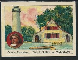 Chromo Saint Pierre Et Miquelon Colonies Françaises BON-POINT Pub: Chaussures Docteur HARRYS Dos Didactique 70x50 Mm TB - Trade Cards