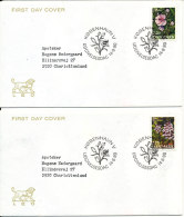 Denmark FDC 14-6-1990 Complete Set Of 4 ORCHIDS On 4 Covers - FDC