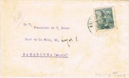7727. Carta SANTA MARIA De MIRALLES (barcelona) 1940 - 1931-Hoy: 2ª República - ... Juan Carlos I