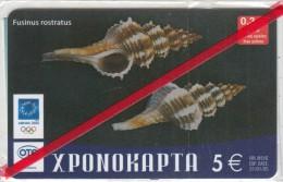 GREECE - Fusinus Rostratus/Shellfish 18, CN : 19, OTE Prepaid Card 5 Euro, 01/04, Mint - Grecia