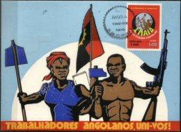 ANGOLA, 1976, 1ST DAY OF MAY; R#4, MAXIMUM CARD - Angola
