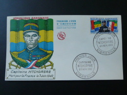 Drapeau Flag Capitaine Ntchorere Tirailleurs Senegalais FDC Gabon 1962 - Covers