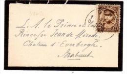 Belgio - Lettera Indirizzata Al Principe Jean De Mirode - Affrancata Con 75c Alberto I - 1915-1920 Alberto I