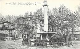 Antibes - Place Nationale - Colonne élevée En Mémoire De La Défense De La Ville - Carte Non Circulée - Antibes