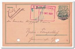Deutsches Reich, 27-10-1921 Postcard Stempel Steglitz 1 - Deutschland