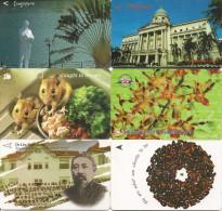 6-CARTES-MAGNETIQUES-1990 -SINGAPOUR-TBE - Singapour