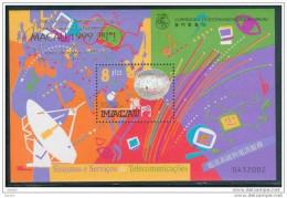 Bloc De China Chine : (50) 1999 Macau Macao - Services De Télécommunications SG MS1106** (Surchargé ) - China