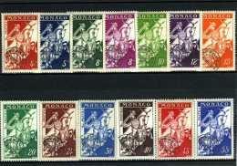 1954-59 MONACO PREOBLITERES YVERT ET TELLIER N°11-18 Xx - Préoblitérés
