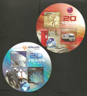O)2011 NAMIBIA-AFRICA, TELECOM-NAMPOST, 20 YEARS, CAR, TRANSMITTING ANTENNA, FIRST MAIL SERVICE, SOUVENIR - Namibia (1990- ...)