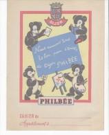 VIEUX PAPIERS-PROTEGE CAHIER-PUB LE PAIN D'EPICES DE DIJON PHILBEE-AU DOS CARTE DE FRANCE-18 Cm X 24cm- - Protège-cahiers