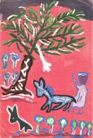 PAYSAGE ROUGE - Peintures Libres D´enfants - Circulée En 1957, 2 Scans - Pittura & Quadri