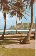SAN JUAN - PUERTO RICO: POSTCARD A TELESCOPIC VIEW OF CASTILLO SAN FELIPE. CIRCULATED 1974. PHOTO BY H. MILLER. GECKO. - Puerto Rico