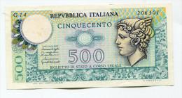 Italie Italy 500 Lire 1976 AUNC - UNC - [ 2] 1946-… : Républic