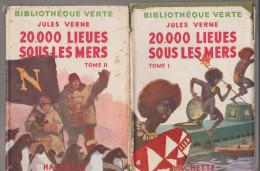 Bibliothèque Verte Jules Verne 20000 Lieues Sous Les Mers Tome 1 Et 2 - Books, Magazines, Comics