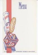 VIEUX PAPIERS-MENU-PUB BISCUITS DELORME-13,5 Cm X 21cm- - Menus