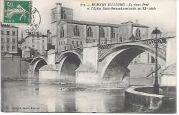 ROMANS Illustré - Le Vieux Pont Et L'Eglise St Bernard - Romans Sur Isere