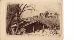 CAGNES SUR MER - Vu De La Route Du Béal -  Gravure De Charles JAFFEUX - Engravings