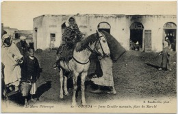 CPA Maroc - Oujda - Place Du Marcher - Jeune Cavalier Marocain - Marruecos