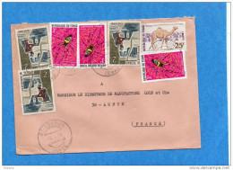 MARCOPHILIE-lettre -TCHAD Cad--1970-7 Stamp  N°247-insect -araignée-nephila-dromada Ire+artisanat - Tsjaad (1960-...)