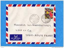MARCOPHILIE-lettre -congo  Cad-Loubomo 1977-stamp  N°441 Hand Ball- Sport -pour Françe - Congo - Brazzaville