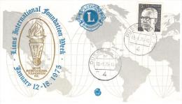 GERMANIA - 13-18 / 01 /1975 DUSSELDORF- FDC LIONS - Rotary, Lions Club