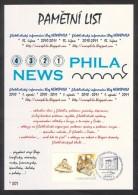 Czech Rep. / Commemorative Sheet (PaL 2011/03) Praha 1: Philatelic Information Blog NEWSPHILA (2010-2011) - Blocks & Sheetlets