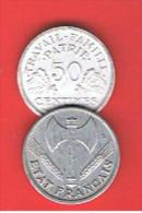 FRANCIA - FRANCE = 50 Centimes 1942   KM914.1 - Francia