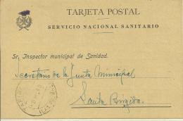 ESPAÑA - CANARIAS - HISTORIA POSTAL - TARJETA POSTAL SANITARIA 1940 - 1931-Today: 2nd Rep - ... Juan Carlos I