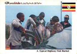 Typical Highway Fish Market, Uganda Postcard - Uganda