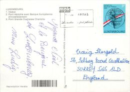 Multiview, Luxembourg City Postcard Used Posted To UK 1989 Nice Stamp Tour De France Cycling - Luxemburg - Town