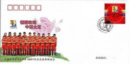 PFTN.TY-27 CHINA TEAM IN FIFA WOMEN´S W.C.CHINA 2007 COMM.COVER - 1949 - ... People's Republic