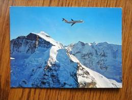 Switzerland  - Swissair  DC 9  über Den Schweizer Alpen    D116361 - GE Genève