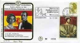 PARLAMENTO EUROPEO  Visita Del Rey Juan Carlos I  ( 1986 ) - 305 - 1981-90 Storia Postale