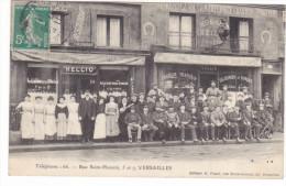 23487 VERSAILLES HELLIO TRAITEUR LOGEUR ET LA PLACE ST-LOUIS 5-7 RUE ST-HONORE -ed Picart - Versailles