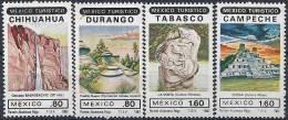 1982 MEXIQUE 971-74** Tourisme, Maya, Cascade - Mexique
