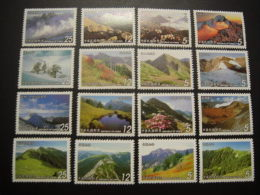 Complete 4 Sets Of Taiwan 2001-2004 Mount Series Stamps Mountain Scenery - Collections, Lots & Series