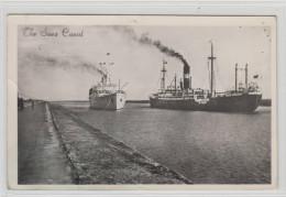 AK - Suez Canal Mit Schiffen 1945 - Port Said