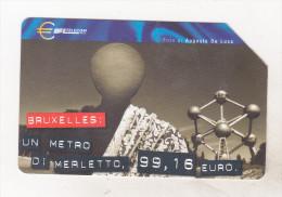 Italy Old Phonecard -  European Capitals - Bruxelles - Landschappen