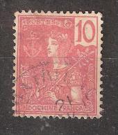 INDOCHINE 1904 ,  Type Grasset  Obl , Yvert N° 28, 10 C Rouge ,Bon Centrage ,TB - Oblitérés