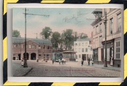 LILLE. - . PLACE ET PORTE SAINT-ANDRE. CARTE COULEUR - Lille