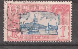 Guadeloupe, 1928, Yvert N° 114, 1 F Rose Et Bleu, Obl Centrale, TB - Guadeloupe (1884-1947)